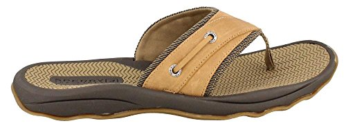 Sperry Top-Sider Men's Outer Banks Thong Sandal,Tan,7 M US (Sperry Sider Espadrilles Top)