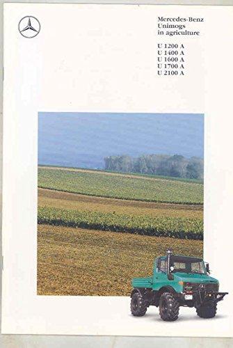 1992 Mercedes Benz Unimog U1200A 1400 1600 1700 2100 Agriculture Brochure from Mercedes Benz
