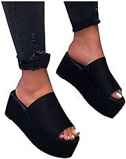 Women Platform Flatform Slippers Open Toe Leopard Print Slides Summer Shoes Slip On Sandals Black