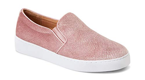 Vionic Women's Splendid Midi Slip-on - Ladies Sneaker with Concealed Orthotic Arch Support Blush Holiday 9 M US (Splendid 6pm)