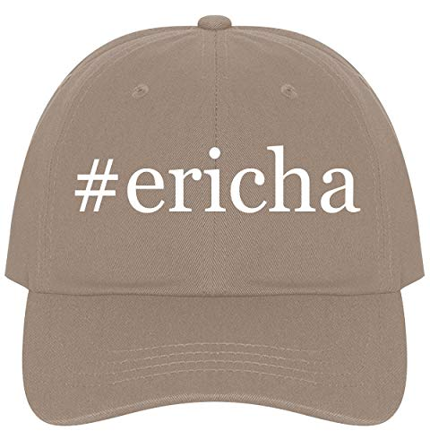 The Town Butler #Ericha - A Nice Comfortable Adjustable Hashtag Dad Hat Cap, Khaki