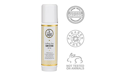 Miami Gorgeous SPF 30 Sunscreen Stick - Organic Natural Zinc Sun Stick Broad Spectrum SPF 30 for All Skin Types - Gluten Free, Non-Nano Zinc Oxide, Paraben Free, No Animal Testing