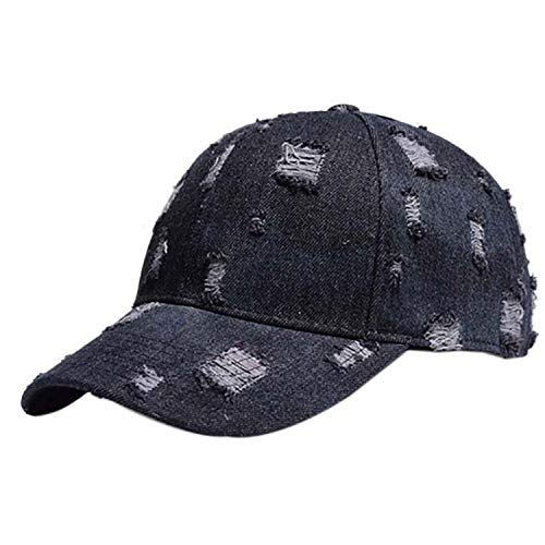 Baseball Cap Ponytail Ripped Denim Style Cotton Sunshade Sun Hat Sportswear Accessory