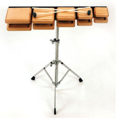 Rhythm Band Instruments RB603 Deluxe Wood Temple Blocks with Stand An by Rhythm Band Instruments