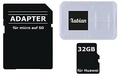 32GB MicroSD SDHC Speicherkarte für Huawei Smartphones und Tablets mit SD Adapter und Memorycard Box