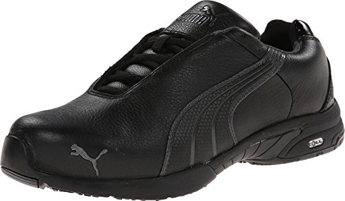 PUMA Safety Women's Velocity SD Black Sneaker 9 W - Black Leather Safety Shoe