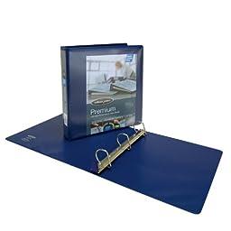 Wilson Jones Premium Single-Touch Locking D-Ring View Binder, 1.5 Inch, Customizable, Blue (W86662PP1)