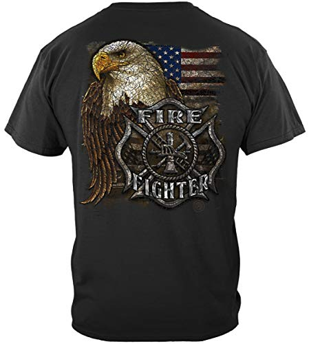 Volunteer Firefighter Shirt | Firefighter Eagle and Flag Shirt ADD132-FF2275XL
