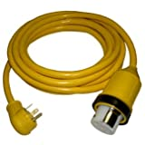 Conntek 14436 35-Foot RV Power Cord RV 30 Amp Male Plug To 50 Amp 125/250 Volt Locking Female Connector