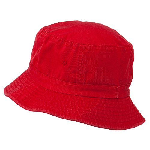 2f5e322b34636a Director Embroidered Pigment Dyed Bucket Hat - Red OSFM at Amazon Men's  Clothing store: