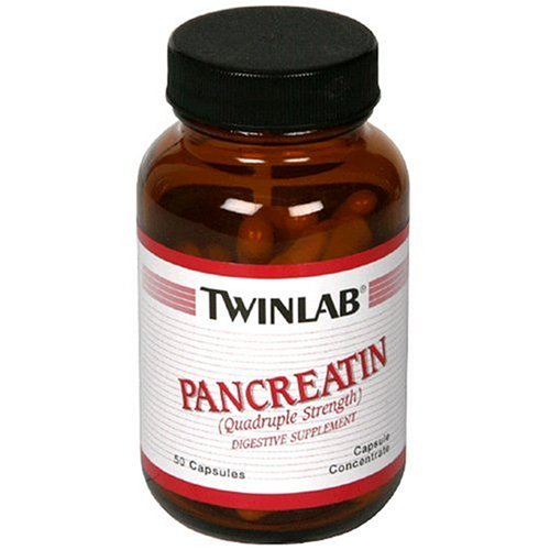50 Capsules Twinlab - Twinlabs Pancreatin, 50 Capsules (Pack of 4)