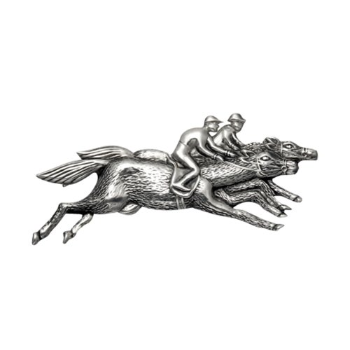 Wild Things Lighweight Sterling Silver Horse Racing Pin