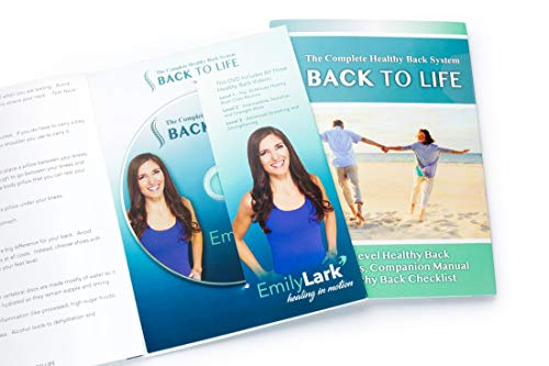 BACK TO LIFE Complete Healthy Back System, DVD, Manual and Checklist, Emily Lark's Healthy Back System, End Back Pain, End Sciatica with Simple Exercises (Best For Back Pain)