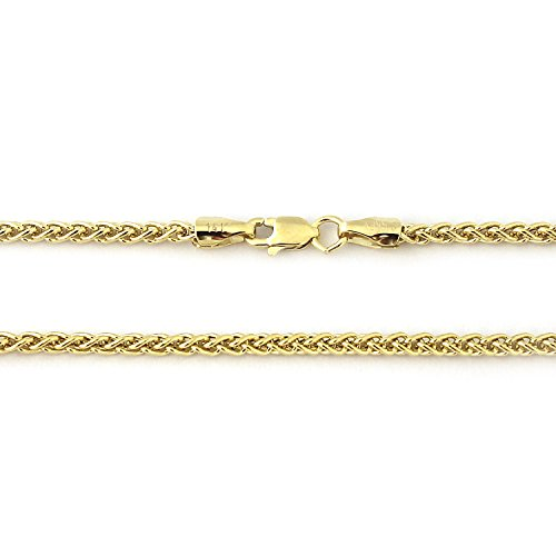 Yellow Gold Wheat Bracelets (14k Yellow Gold 3.3mm Wheat Chain Bracelet,)