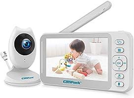 Campark ベビーモニター 4.3インチ 見守りカメラ 遠隔監視カメラ 双方向音声 暗視機能 低温警報 ベビーカメラ 出産祝いプレゼント 老人看護 ペット見守り 日本語取扱説明書付き ホワイト