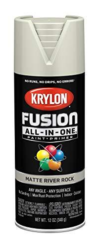 - Krylon K02794007 Fusion All-in-One Spray Paint, River Rock