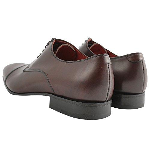 Exclusif ParisExclusif Paris Bruno, Chaussures homme Derbies homme - Zapatos de Cordones Hombre Rojo - burdeos