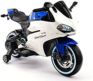 Street Racer New Ducati Motorcycles Style 12V Electric Kids Ride-ON Motorcycle | Blue