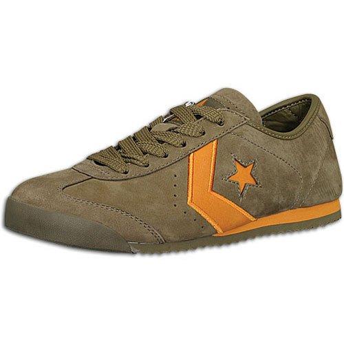 Converse Mens Mt Stjärna 3 Mocka Låga Topp Snörning Mode Sneakers Oliv / Orange