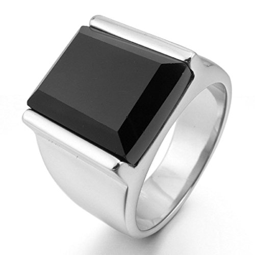 epinkifashion-jewelry-mens-stainless-steel-rings-agate-silver-black-rectangular-polished-size-8