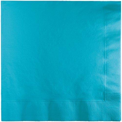 Creative Converting 573552 BEVERAGE NAPKIN, One Size, Bermuda Blue Bermuda Blue Beverage Napkins