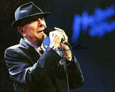 LEONARD COHEN 8x10 Music Photo Signed In-Person