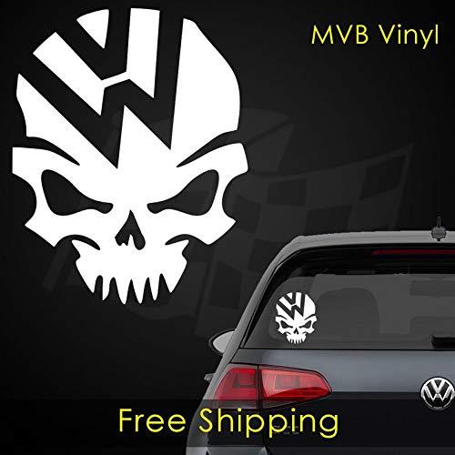 BYRON HOYLE VW Volkswagen Skull Vinyl Decal Sticker | Stance Boost GTI TDI 405