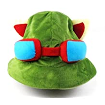 Tanboo League of Legends LOL Teemo Cosplay Cute Hat Cap 100% NewChristmas Gift,with Tanboo Card and Bow Box