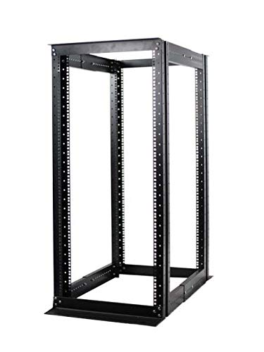 - Raising Electronics Server Rack 4 Post Open Rack Frame Rack Enclosure 19 Inch Adjustable Depth Cold Rolled Steel(27U,56Inch Height)