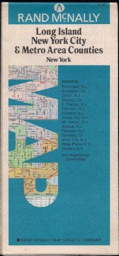 Rand Mcnally Map Long Island New York City & Metro Area Counties New York (New York Metro Area Map)
