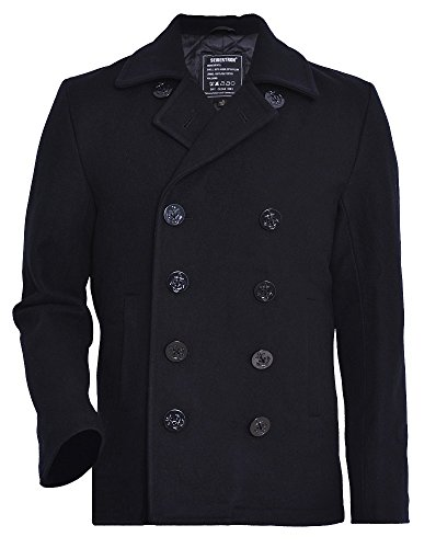 Us Navy Wool Peacoat Jacket - 1