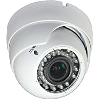 iPower Security SCCAMCVI09 Indoor Outdoor HD-CVI 2.0MP 1080p Dome Security Camera (White)