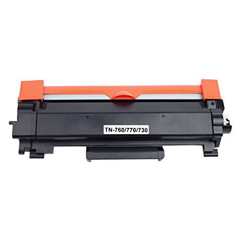 [No Chip] JC Toner Replacement for Brother TN-760 TN 770 Toner Cartridge for Brother HL-L2350DW HL-L2370DW HL-L2390DW HL-L2395DW HL-L2370DWXL MFC-L2710DW MFC-L2730DW MFC-L2750DW DCP-L2550DW by JC Toner