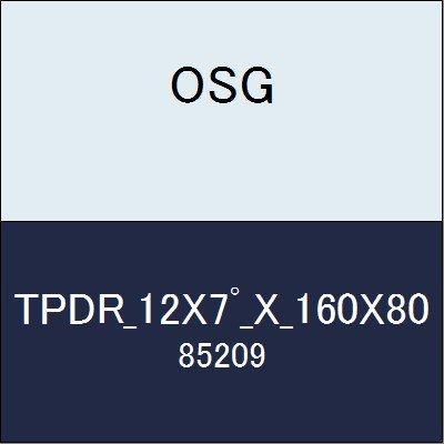 OSG テーパーエンドミル TPDR_12X7_X_160X80 商品番号 85209  B07BBKXRGK