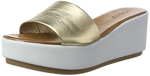 Gold con Plataforma para 7112 Inuovo Gold Mujer Sandalias IYqAtwxwE