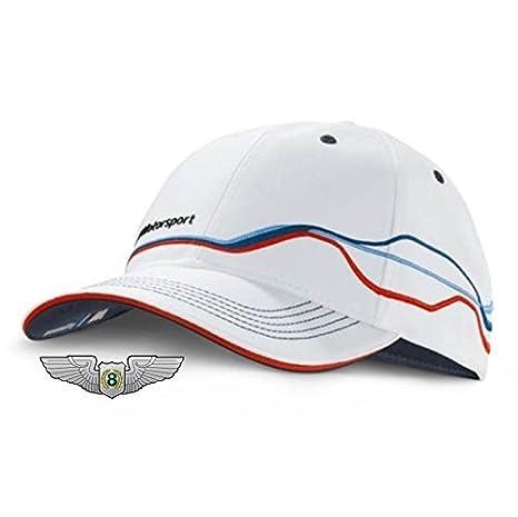 BMW nuevo genuino M Motorsport ventilador Unisex Gorra de béisbol sombrero (blanco) 80162285865: Amazon.es: Coche y moto