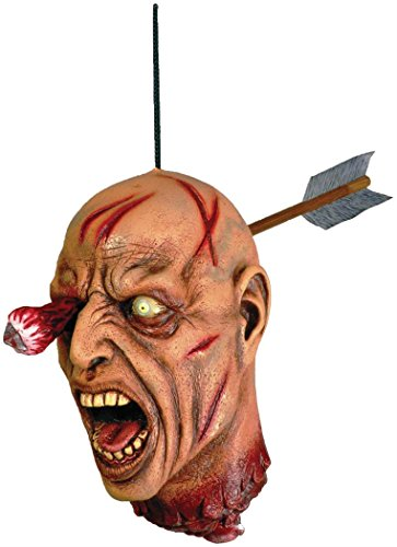 Forum Novelties 63386 Arrow Through Severed Head Zombie Hanging Property, Multicolored]()