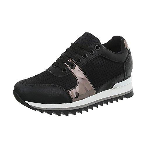 Sneaker Sneakers G Donna Da Zeppa 128 design Scarpe High Ital Nero xIqzBUw