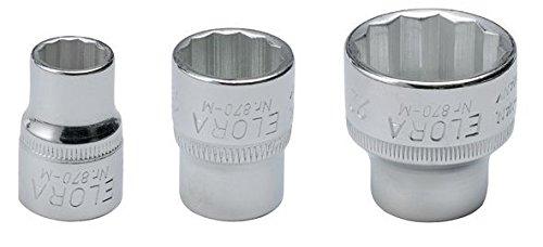 Elora 870000212000870-M 21mm 3//8 Bi-Hexagonal Socket