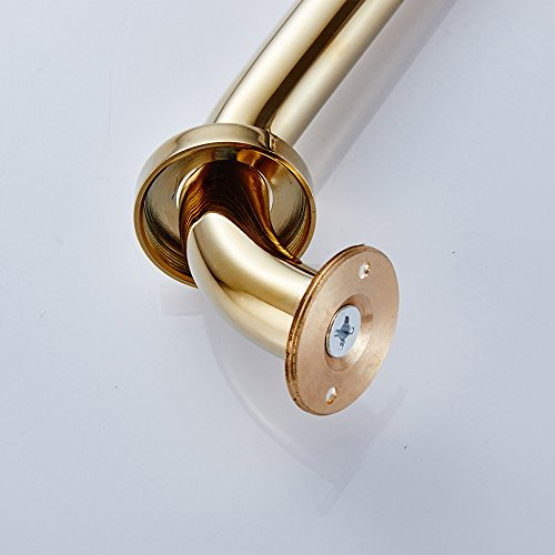 Velimax Brass Grab Bar Home Care Handrail Shower Safety Hand-Grip Wall Mounted 18-Inche Gold Finish by Velimax (Image #2)