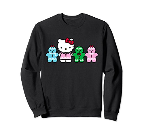 Unisex Hello Kitty Gingerbread Friends Sweatshirt XL: Black (For Kitty Hello Adults Clothes)