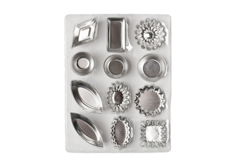 - Ateco 4840 Tartlet Mold Set, 72-Piece Set Inlcludes 12 shapes, 6 pcs of Each