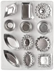 Ateco 4840 Tartlet Mold Set, 72-Piece Set Inlcludes 12 shapes, 6 pcs of Each