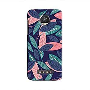 Cover It Up - Old Leaves Print Moto Z2 Play Hard case