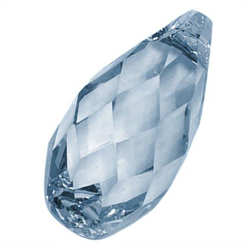Swarovski Crystal, 6010 Briolette Pendants 11x5.5mm, 2 Pieces, Denim ()