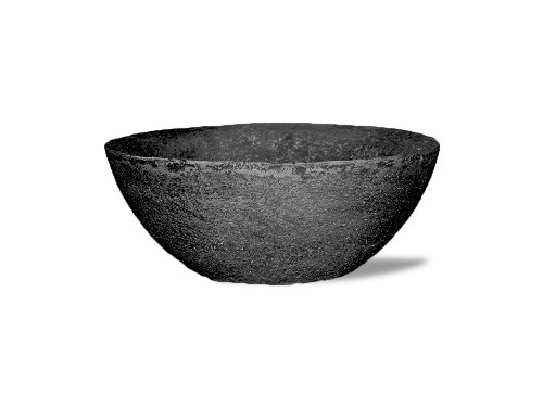 Garden Urns Planters Containers (Amedeo Design 2513-308B 25 by 11 by 25-Inch Lava Bowl, Large, Black)