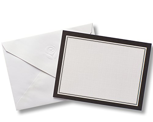 - American Greetings Black and White Blank Single Panel Cards and White Envelopes, 40-Count