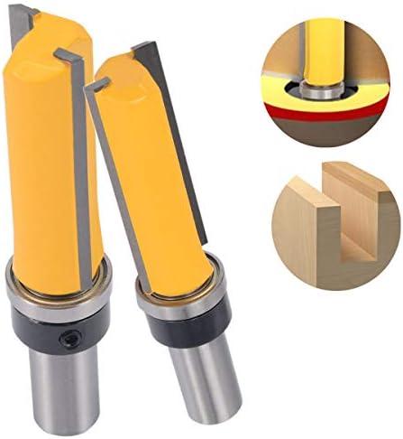 NO LOGO ZZB-ZT, 1pc 92mm Flush Trim Pattern Frässchneide 1/2 '' Shank 3/4''W X 2''H Holzbearbeitungs Fräser Power Tool (Size : 12.7mm)