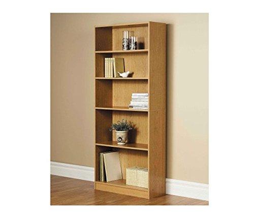 Orion Wide 5-Shelf Bookcase Oak