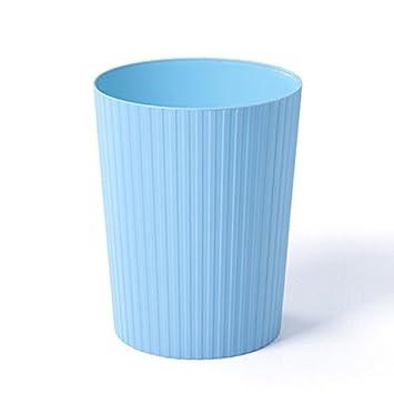 Trash Home Kreatives Wohnzimmer K/üche Toilette Toiletten B/üro Unbeschichtet Kunststoff M/ülleimer M/ülleimer WEBO Home Farbe : Blau